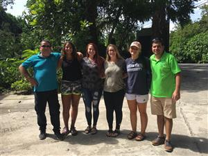 Group in Costa Rica with guides.